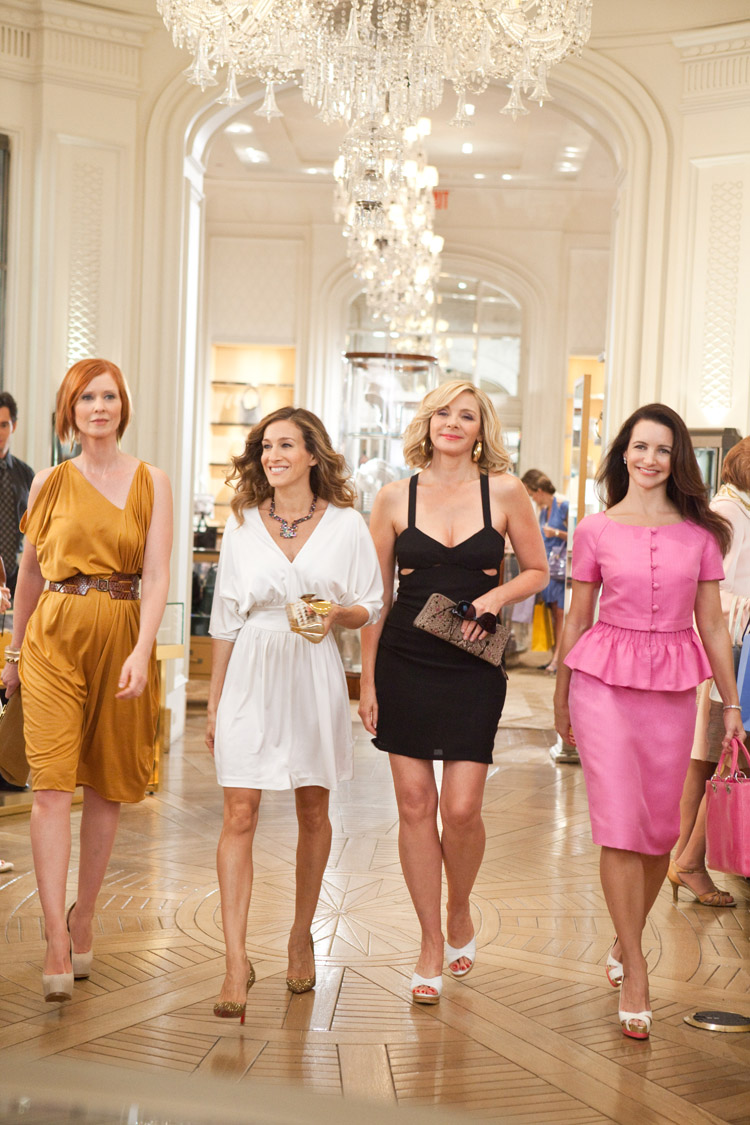 CYNTHIA NIXON as Miranda Hobbes, SARAH JESSICA PARKER as Carrie Bradshaw, KIM CATTRALL as Samantha Jones and KRISTIN DAVIS as Charlotte York