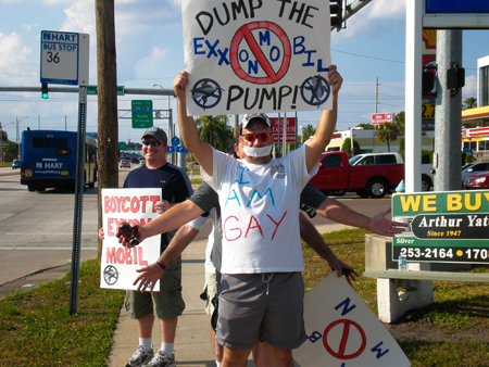 Exxon protest in Tampa