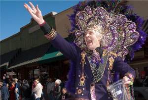 Mardi Gras parade in Eureka Springs