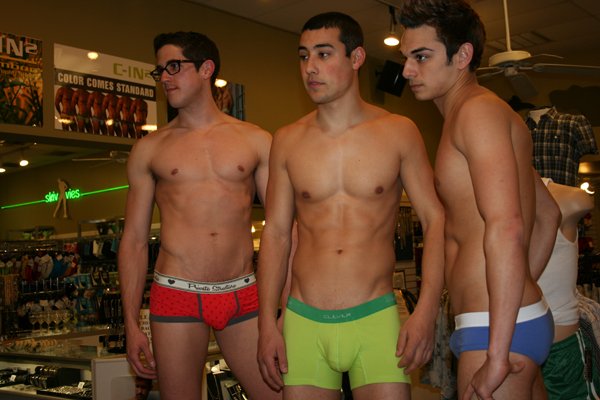 Gay man in their underwear