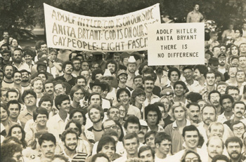 "FIGHTING HATE  |  In 1977, Anita Bryant brought her ""Save the Children"" campaign to Houston and the LGBT community responded."
