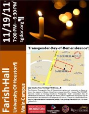 Houston Transgender Day of Remembrance