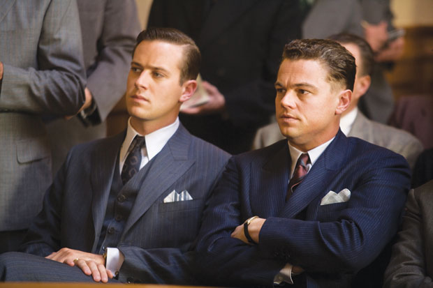 G-MEN, X-RATED  |  Tolson (Armie Hammer) and Hoover (Leonardo DiCaprio) carry on in 'J. Edgar.'