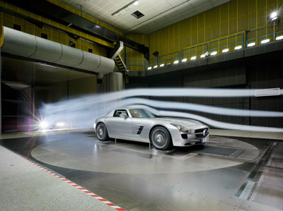 AIR APPARENT  |  Engineered cars allowing wind to move in a path or least resistance have been hallmarks of Mercedes-Benz, above, for decades, and make the million-dollar Bugatti Veyron, top, road candy for the eye.