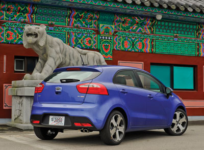 CAR-NIVALE  |  At less than $14K, the Kia Rio is an affordably sporty ride. (Photo courtesy Kia)