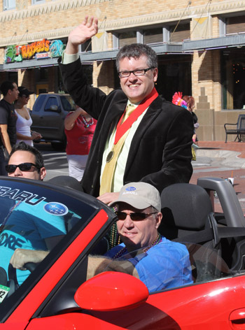 TAKING PRIDE IN HIS WORK  |  Todd Camp, founder of Q Cinema and sometimes called the 'gay mayor of Fort Worth,' also serves as chair of the media and souvenir booklet committee for the Tarrant County Gay Pride Week Association. (Dallas Voice file photo)