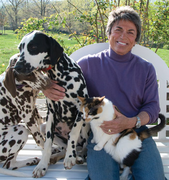 THE BROWN VERSION  |  Lesbian author and activist Rita Mae Brown shares credit with her cat Sneaky Pie on a series of mystery novels.