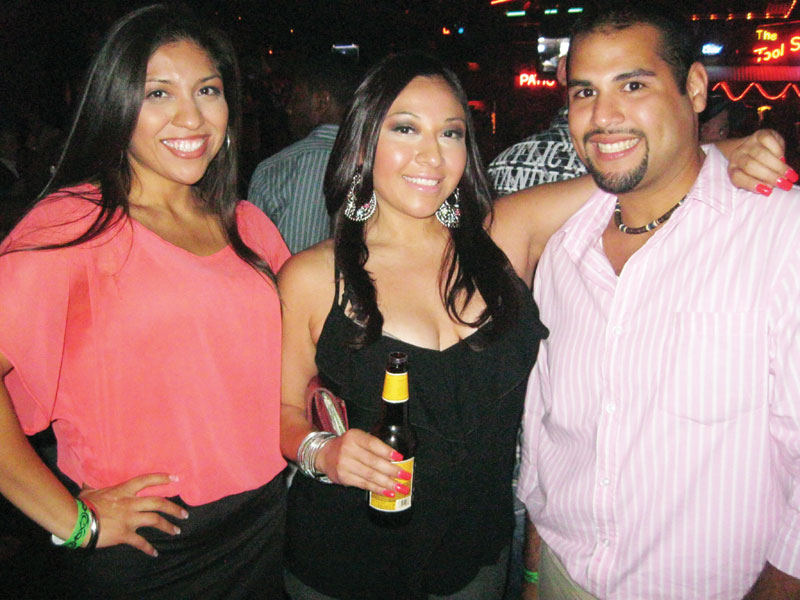 Emilians, Sandra and Eppy at the Roundup Saloon
