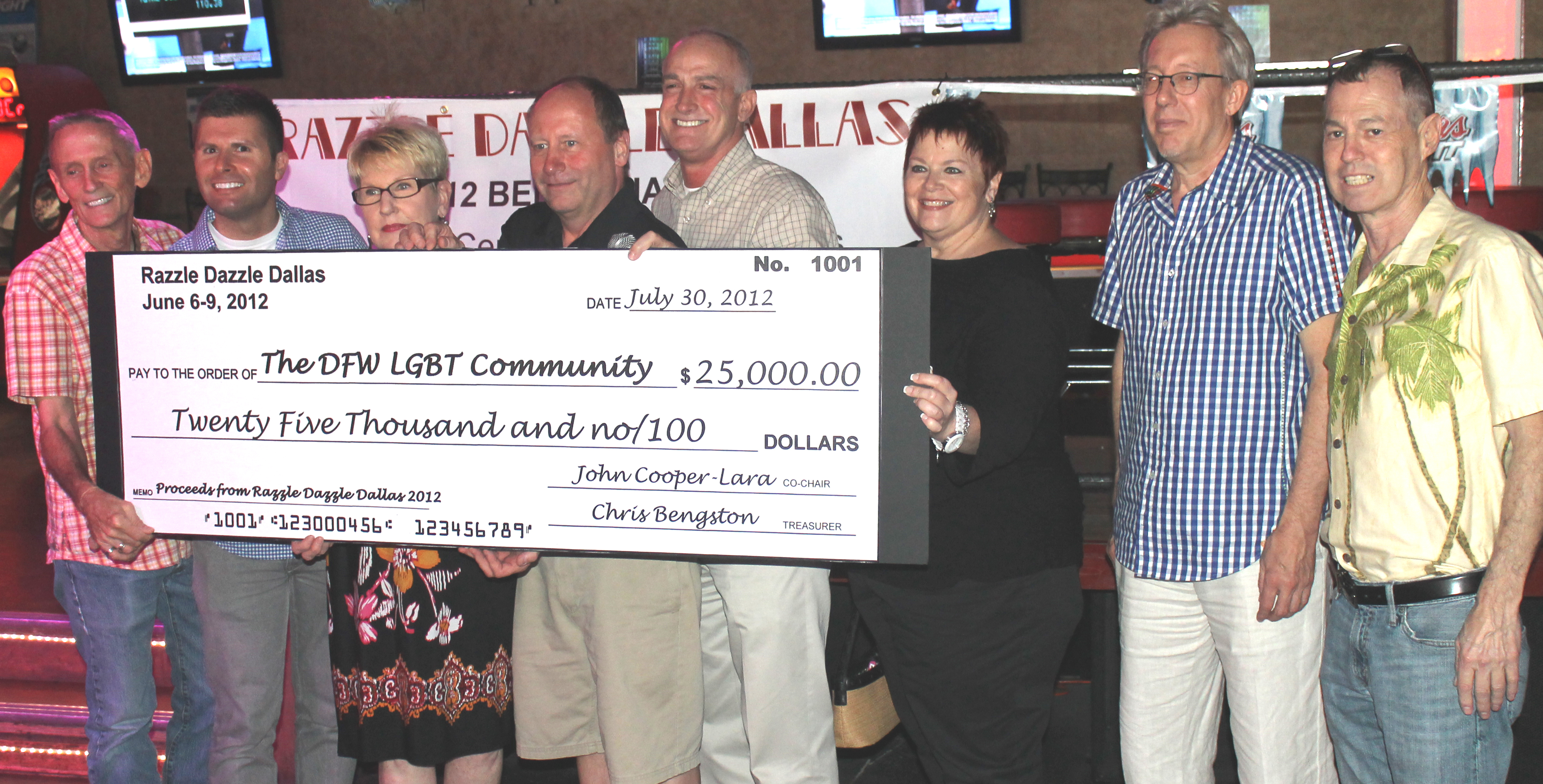 Razzle Dazzle Dallas distributes proceeds