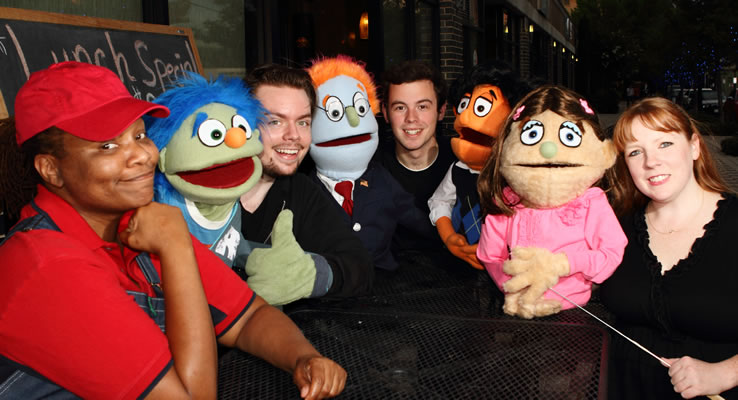 Avenue Q continues at Theatre Too