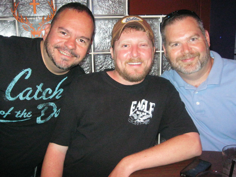 Clay, Jason and Jim at Pekers.