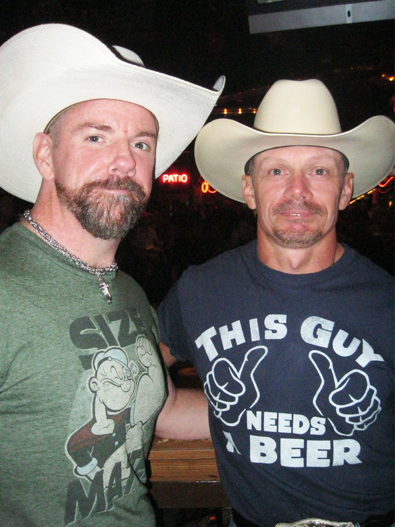 Larry and Bill at the Round-Up Saloon.