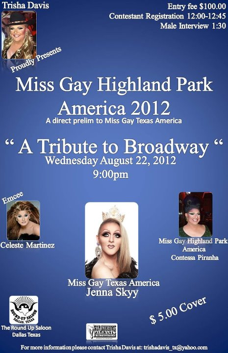 Miss Gay Highland Park America at the Round-Up