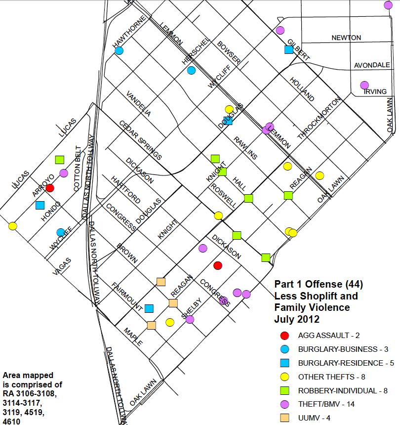 MAP: Crime in Oak Lawn