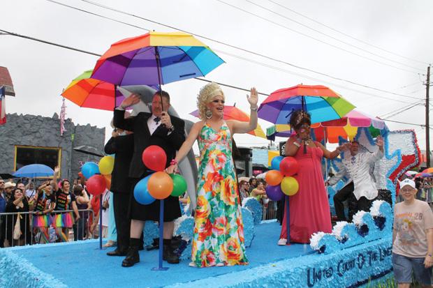 Rain can't dampen gay Pride