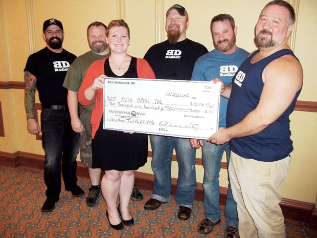 BEARDANCE GIVES BIG TO AIDS ARMS
