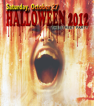 Halloween street party on Cedar Springs