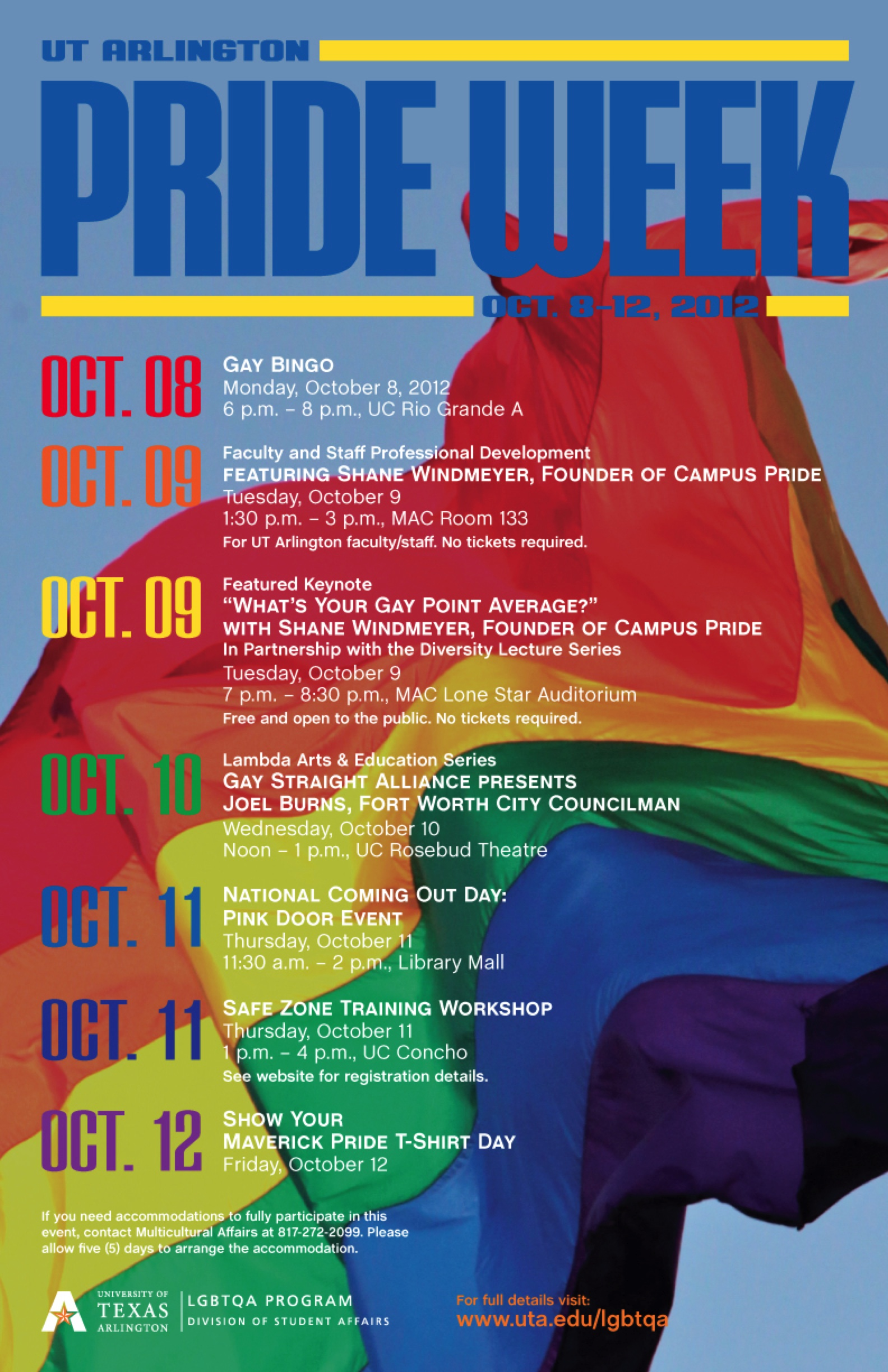 ... kick off tonight at 6 p.m. in the university center with gay bingo.