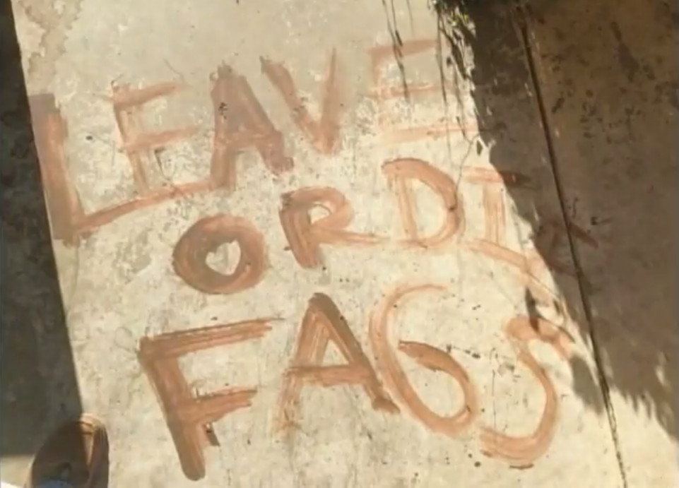 BREAKING: Gay Texas couple finds death threat painted on front porch