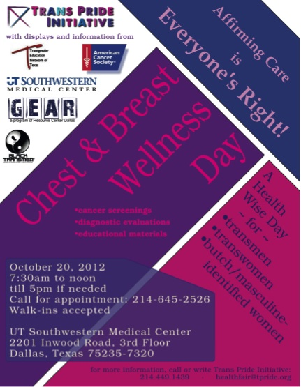 UT Southwestern to hold chest wellness day for trans community next week