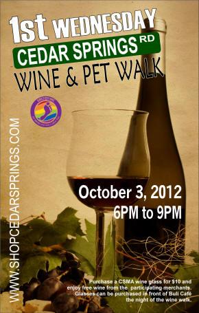 First Wednesday Wine Walk on Cedar Springs