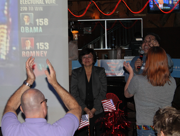 Sheriff Valdez speaks at the Round-Up after being re-elected to 3rd term