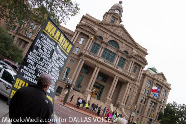 Anti-gay preacher arrested at Tarrant Pride awaits trial date, can't leave area