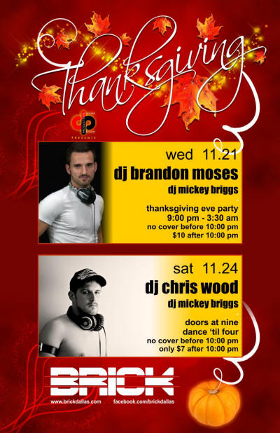 Thanksgiving Eve party at The Brick