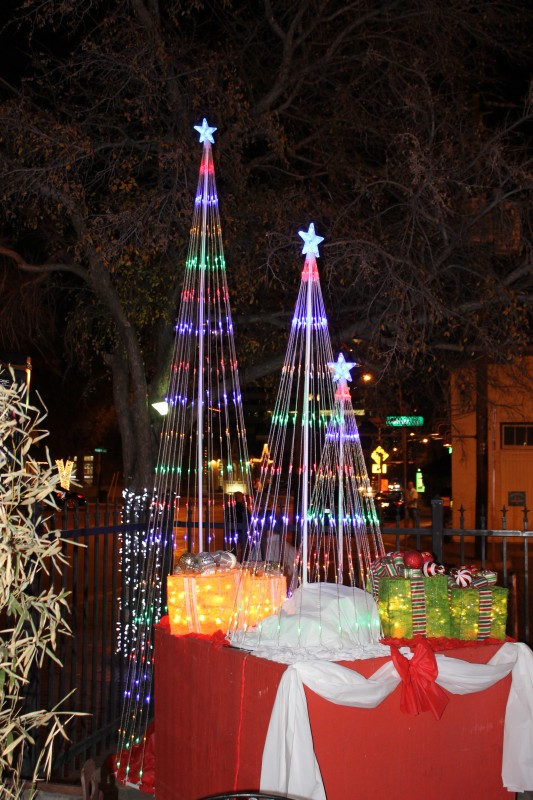 PHOTOS: Cedar Springs breaks tradition, goes with trinity of trees