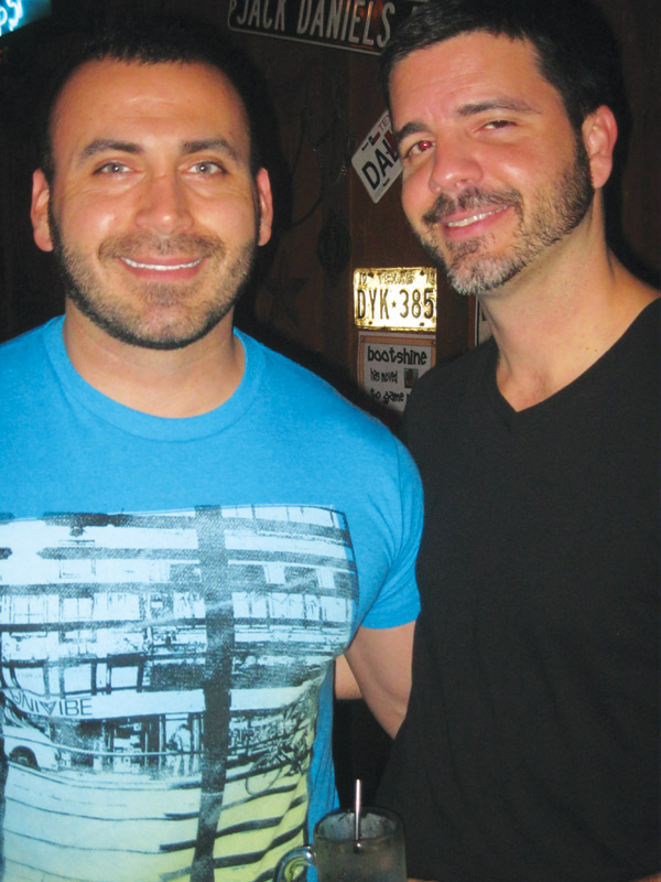 Luis and Ryan at the Round-Up Saloon.