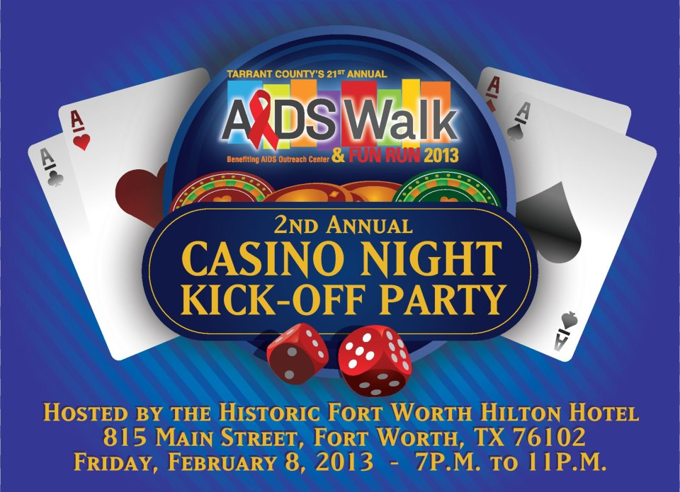 AOC kicks off 21st Tarrant County AIDS Walk with a casino party