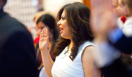 El Paso Rep. Mary Gonzalez sworn in as Texas' only openly LGBT legislator