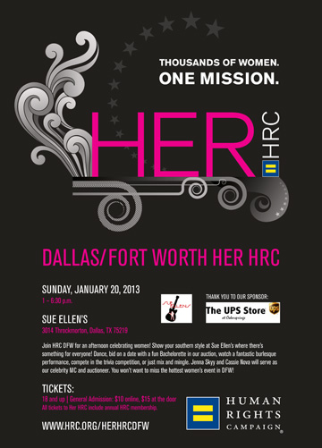 HRC presents HER at Sue Ellen's