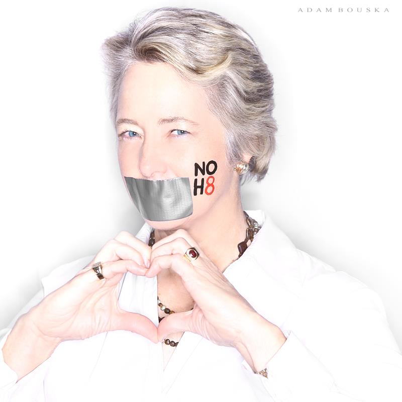 PIC OF THE DAY: Houston Mayor Annise Parker joins NOH8 campaign