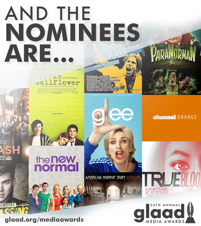 GLAAD announces nominees for 24th annual media awards