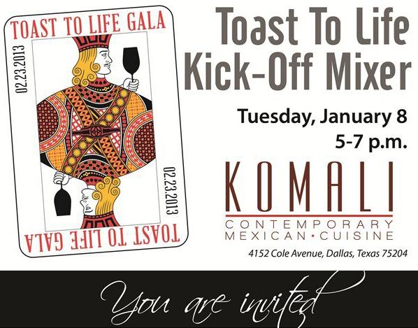 Toast to Life mixer at Komali