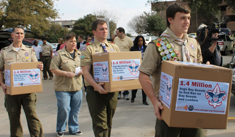 BREAKING: Gay Scouts, leaders deliver petitions