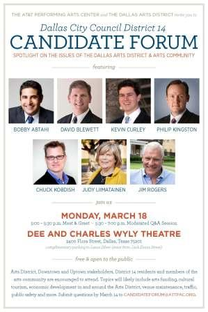 District 14 candidates to debate the arts as campaign forums begin in earnest