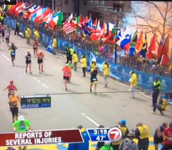 Explosion rocks Boston Marathon finish line; 2 dead, at least 23 injured