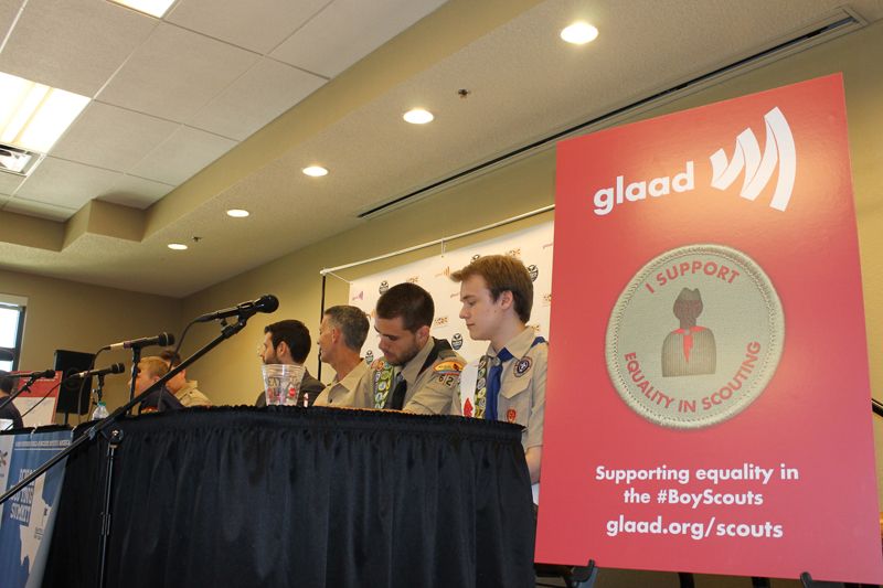 Gay Scouts and leaders participate in panel about how the Boy Scouts' gay ban affected them during the Equal Scouting Summit in Grapevine on May 22, 2013. (Anna Waugh/Dallas Voice)