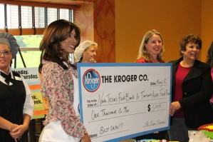 Nerissa Knight and the donation check
