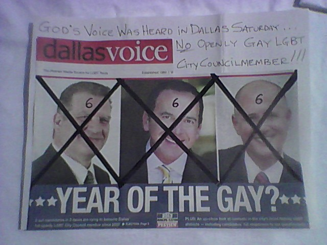 Hateful anti-gay flier prompts Dallas City Council to review speaker rules