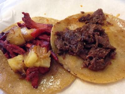 Mi Tierrita trompo y barbacoa tacos