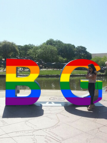 Rainbow-colored version of 'B-G' letters coming to Oak Lawn