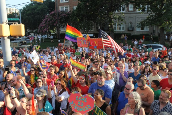 PHOTOS: About 500 attend Day of Decision rally on Cedar Springs