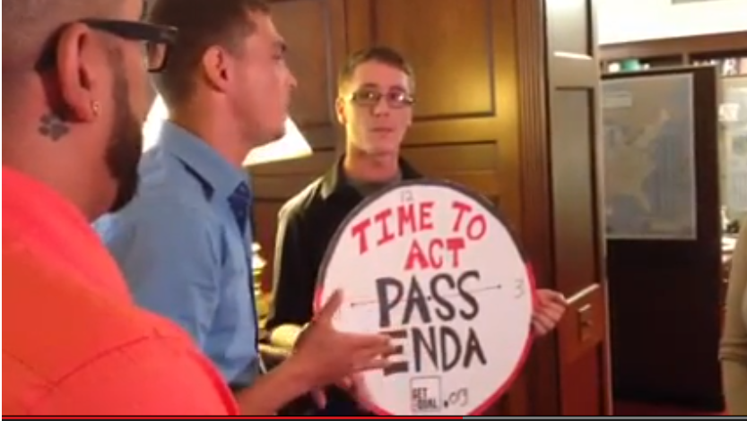 WATCH: 6 Texas activists arrested at ENDA protest in Boehner's office