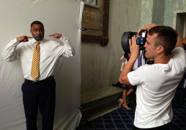 Veasey does NOH8 shoot; Hall mistakenly attends gay event