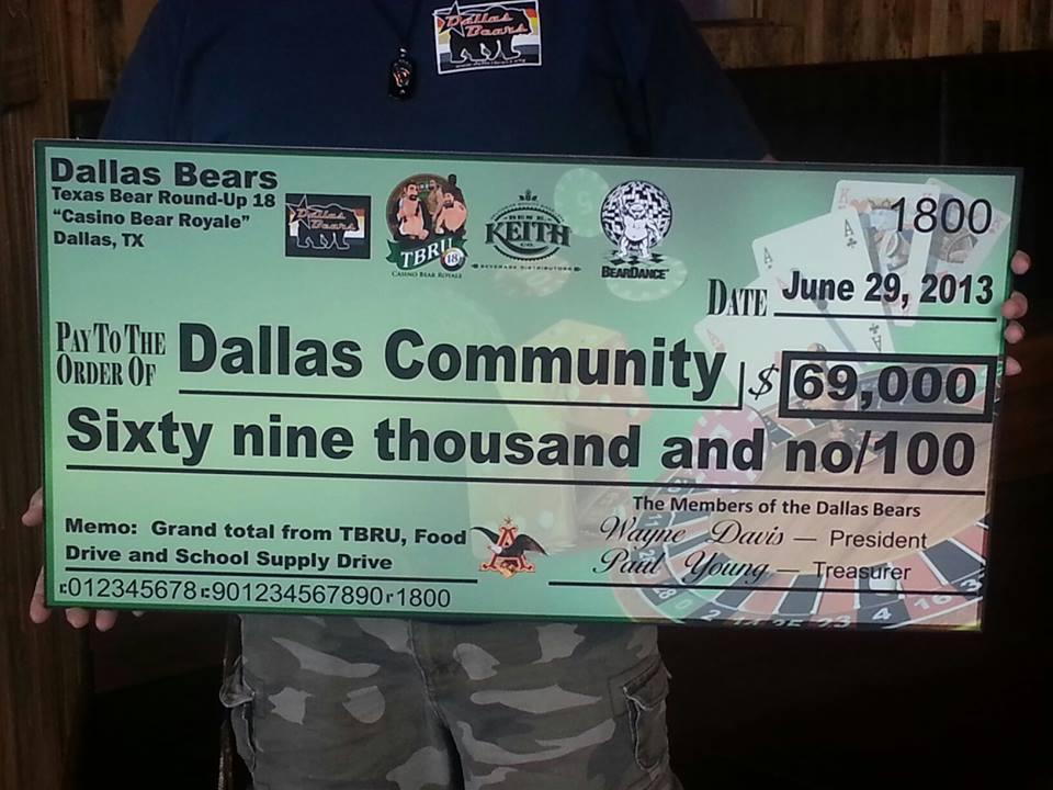 Dallas Bears donate $69K to charities