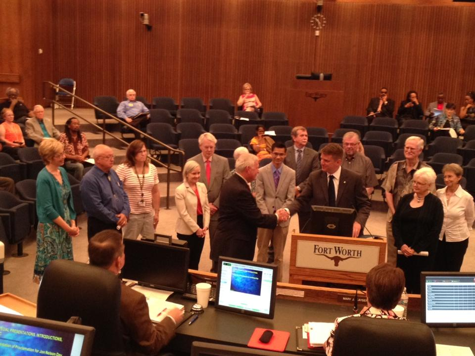 Fort Worth Council declares today 'Jon Nelson Day' in honor of FFW president