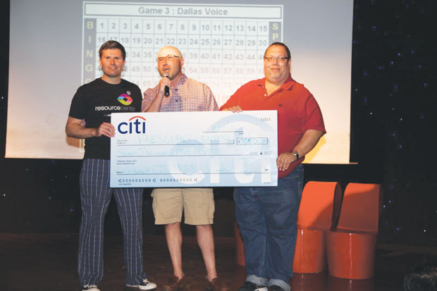 Resource Center wins check from Citi at Gaybingo